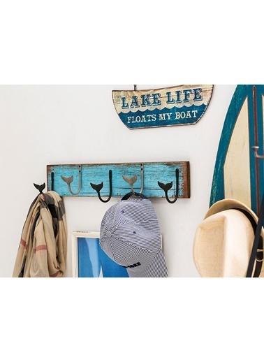 Warm Design Balina Kuyruk Kancalı Duvar Askısı  Mavi